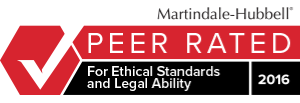 Martindale Hubbell - Peer Rated for ethical standards and legal ability - 2016