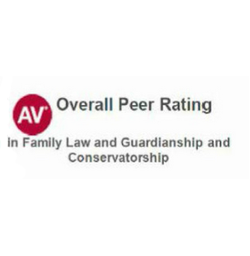 AV Overall Peer Rating - In Family Law and Guardianship and Conservatorship