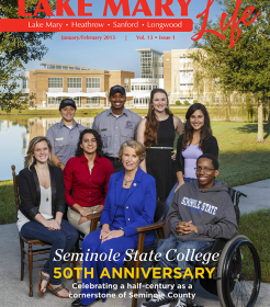 Lake Mary Life Magazine - Front cover of January/February 2015 edition
