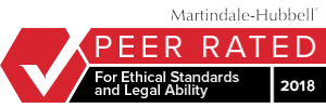 Martindale Hubbell - Peer Rated for ethical standards and legal ability - 2017