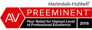 Martindale-Hubbell - AV Preeminent - Peer Rated for Highest LEvel of Professional Excellence 2017